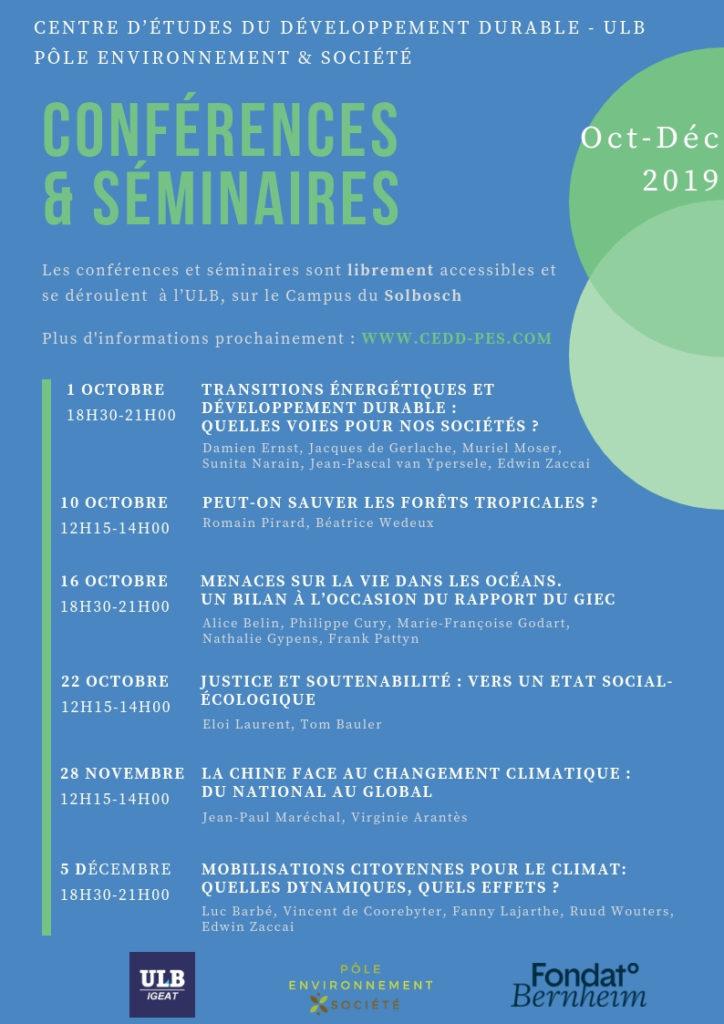 Programme PES octobre-décembre 2019